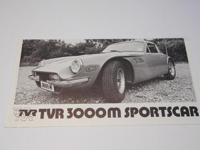 TVR 3000 M Sportscar - prospekt