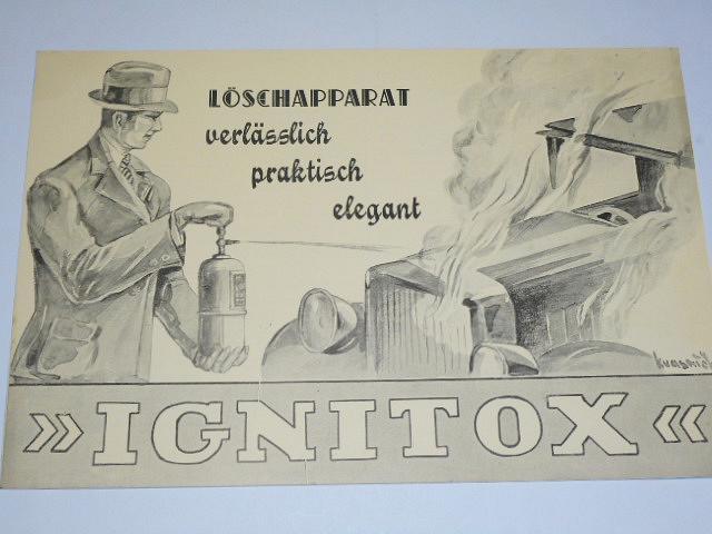 Ignitox - Löschapparat verlässlich praktisch elegant - prospekt - hasicí přístroj
