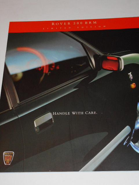 Rover 200 BRM - prospekt - 1998