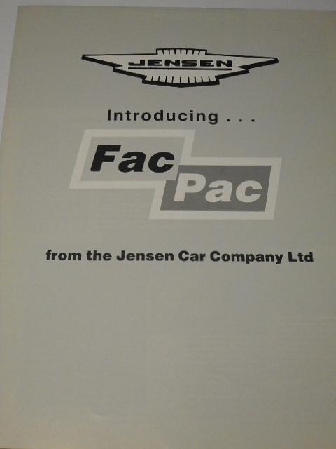 Jensen Interceptor Series 4 - Fac Pac - prospekt