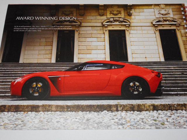 Aston Martin V 12 Zagato - prospekt - 2013