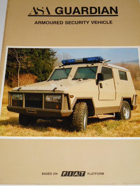ASA Guardian Armoured Security Vehicle - prospekt - 1982