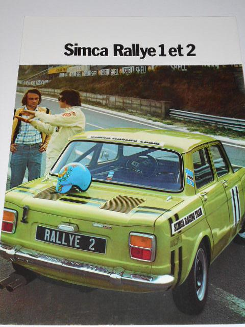 Simca Rallye 1 et 2 - prospekt - 1974