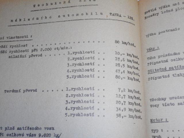 Tatra 128 - příručka pro řidiče nákladního automobilu - 1951