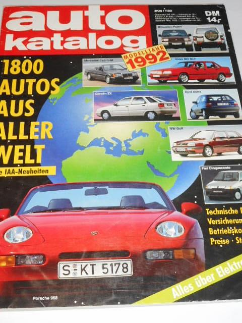 Auto Katalog 1992 - Škoda Favorit, Forman, Tatra 613-3