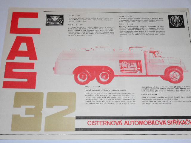 Tatra 148 CAS 32 cisternová automobilová stříkačka, prospekt