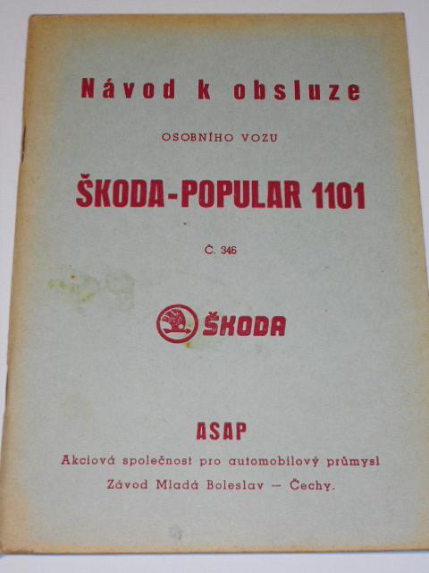 Škoda - Popular 1101 - návod k obsluze - ASAP Mladá Boleslav