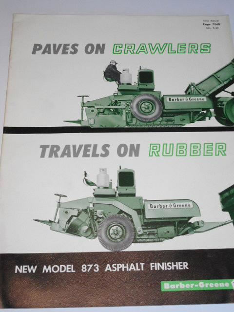Paves on Crawlers, Travels on Rubber, New Model 873 Asphalt Finisher - Barber - Greene - prospekt