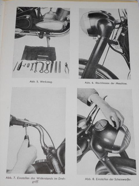 JAWA 250/11, 350/12, 18 - pérák - Fahrer - Handbuch - 1952 - Motokov