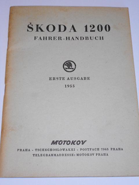 Škoda 1200 Fahrer - Handbuch - 1955 - Motokov