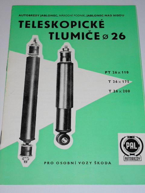 PAL - teleskopické tlumiče průměr 26 pro osobní vozy Škoda - 1983