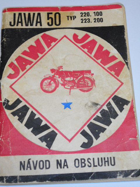 JAWA 50 typ 220.100, 223.200 - návod na obsluhu