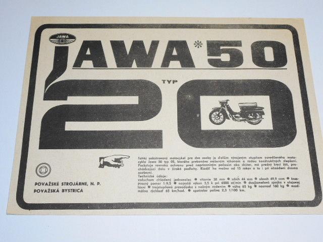 JAWA 50 typ 20 - prospekt