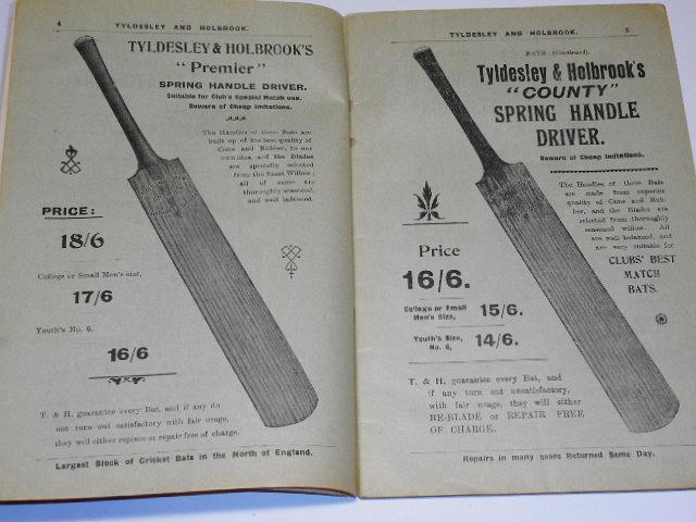 Tyldesley a Holbrook - Practical sports outfitters - Summer catalogue 1905 - cricket, croquet, badminton, tennis, hockey, lacrosse, water polo, boxing