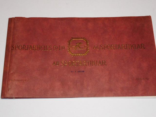 Sportarticles Co. Ltd, A. B. Sportartiklar - illustrated catalogue - No 3/1926
