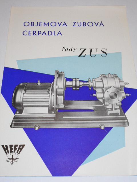 HEFA - objemová zubová čerpadla řady ZUS - prospekt