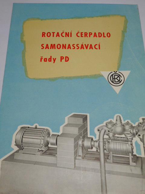 ČKD - rotační čerpadlo samonassávací řady PD - prospekt - 1959