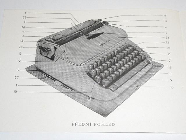 Optima Elite - návod k obsluze psacího stroje - 1958
