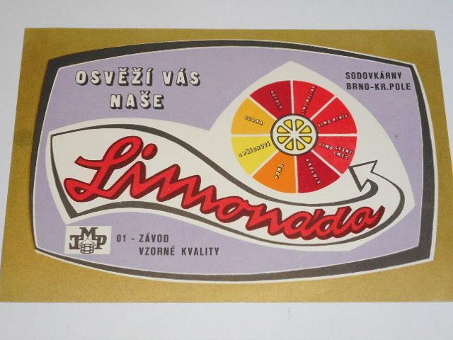 Osvěží Vás naše limonáda - Sodovkárny Brno - Královo Pole - leták - reklama