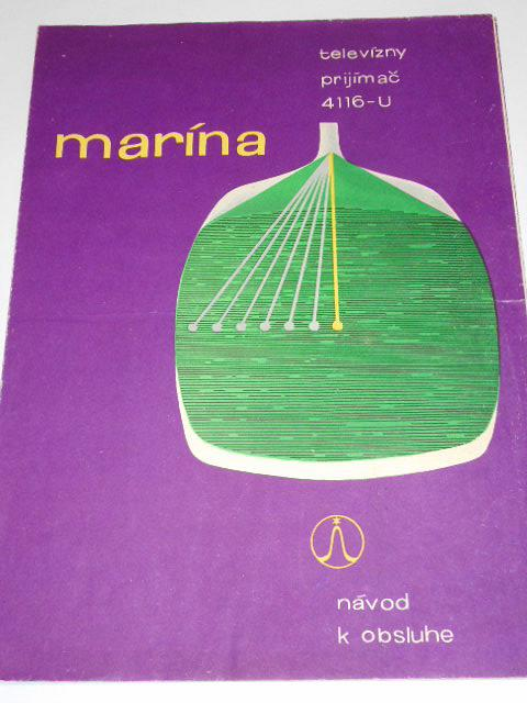 Tesla Marína - televízny prijímač 4116-U - návod k obsluhe