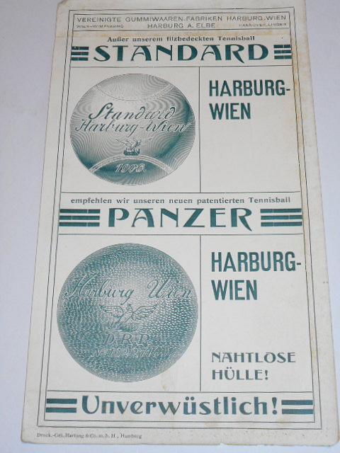 Harburg - Wien - Tennisball - Standard, Panzer - leták