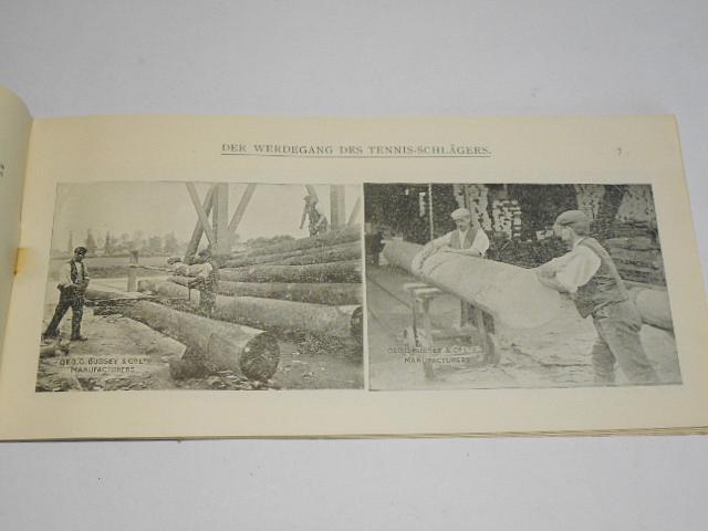 W. E. Bussey - Der Werdegang des Tennis - Schlägers... 1910 - prospekt