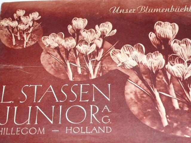 L. Stassen Junior A. G. Holland - Unser Blumenbüchlein! prospekt - 1937