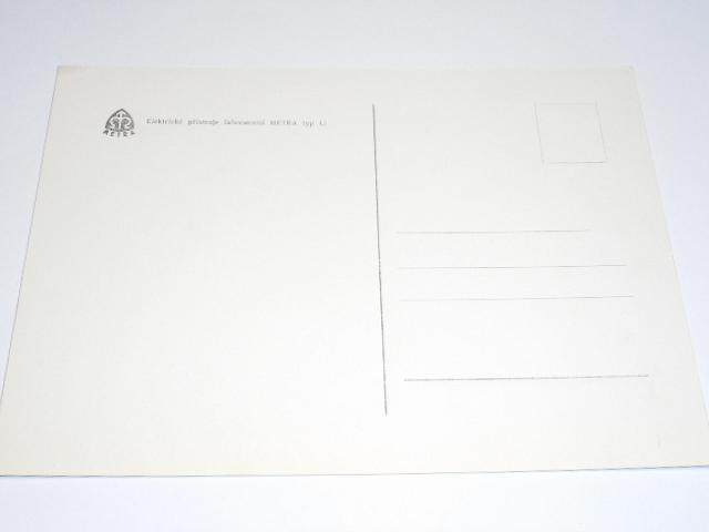 Metra Blansko - elektrické přístroje laboratorní Metra typ Li - pohlednice