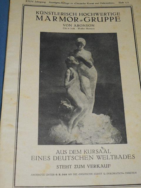 Anzeigen-Beilage zu Deutsche Kunst und Dekoration - 1920