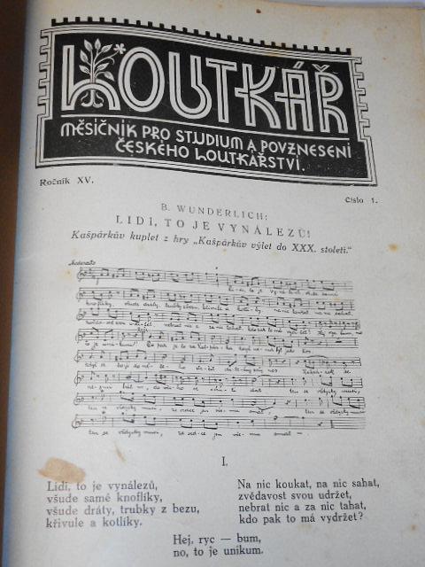 Loutkař 1928 - 1929 - 1930 měsíčník pro studium a povznesení českého loutkařství