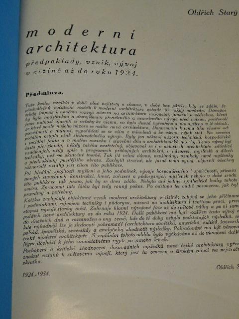 Moderní architektura - předpoklady, vznik, vývoj v cizině až do roku 1924 - Oldřich Starý