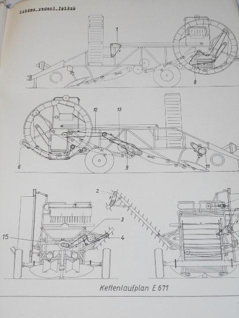 Sklízeč brambor E 671/9 - návod k obsluze - 1982