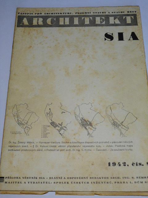 Architektura SIA - 1942 - časopis pro architekturu, pozemní stavby a stavbu měst