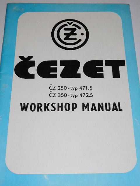 ČZ 250/471-5, 350/472-5 - Workshop manual - 1981