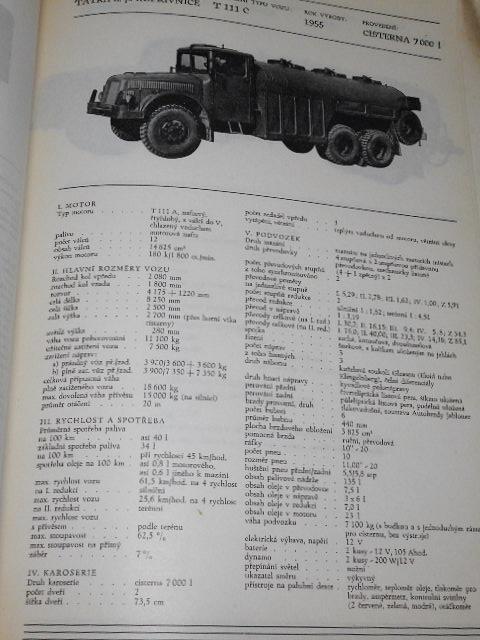 Československá motorová vozidla - katalog - 1956 - Škoda, Praga, Tatra, Karosa, BSS, Liaz, JAWA, ČZ