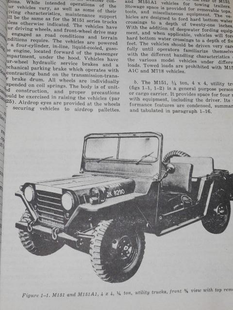 Operator´s manual for truck, utility, 1/4 ton 4 x 4, M151, M151A1, M151A1C, M718 - 1968