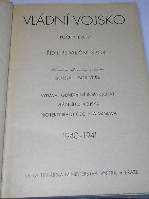 Vládní vojsko - 1940, 1941 - časopisy