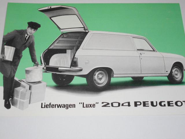 Peugeot 204 Lieferwagen - 1967 - prospekt