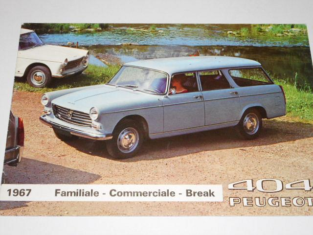 Peugeot 404 - Familiale - Commerciale - Break - prospekt - 1967
