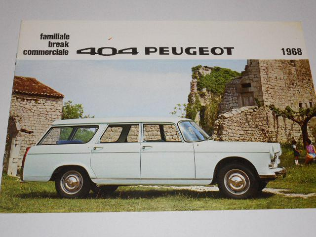 Peugeot 404 - familiale - break - commerciale - prospekt - 1968