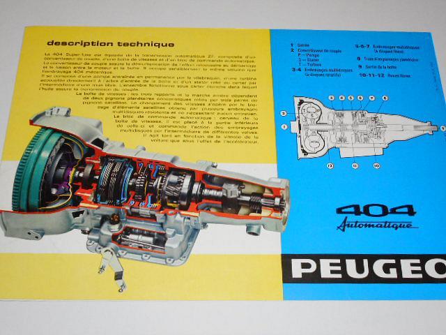 Peugeot 404 Automatique - prospekt - 1967