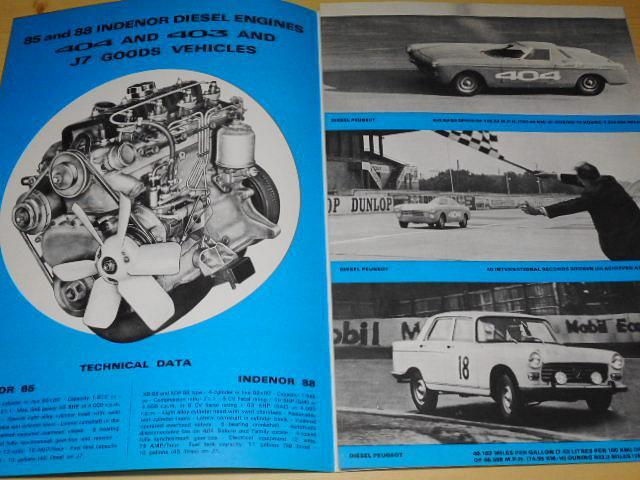 Peugeot Diesel - 404, 403, J7 - prospekt - 1967