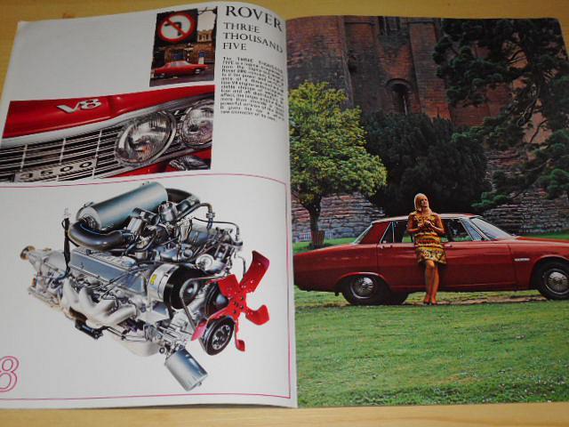 Rover 2000 SC, 2000 SC Automatic, 2000 TC, 3 1/2 Litre Saloon 3 1/2 Litre Coupé, V8 - prospekt - 1966