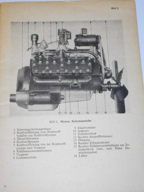 Ford - Lastkraftwagen 3 t Ford Baumuster V 3000 S Gerätbeschreibung und Bedienungsanweisung - D 666/9 - 1942 - Wehrmacht
