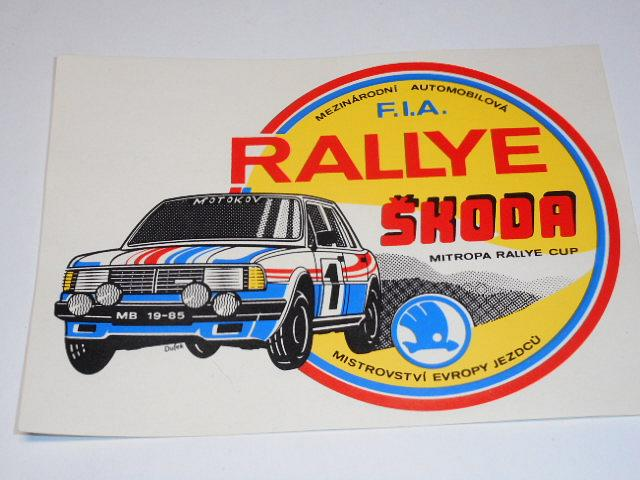 Rallye Škoda - 1985 - samolepka