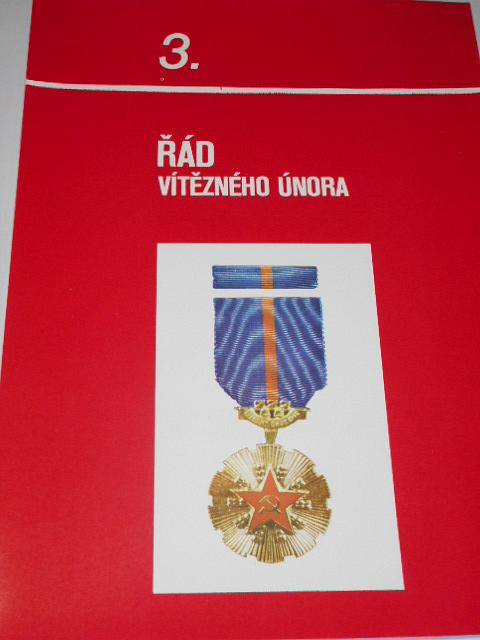 Výběr československých řádů a vyznamenání - obrazový soubor - 1980
