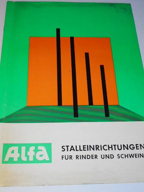 Alfa - Stalleinrichtungen für Rinder und Schweine - prospekt - 1969