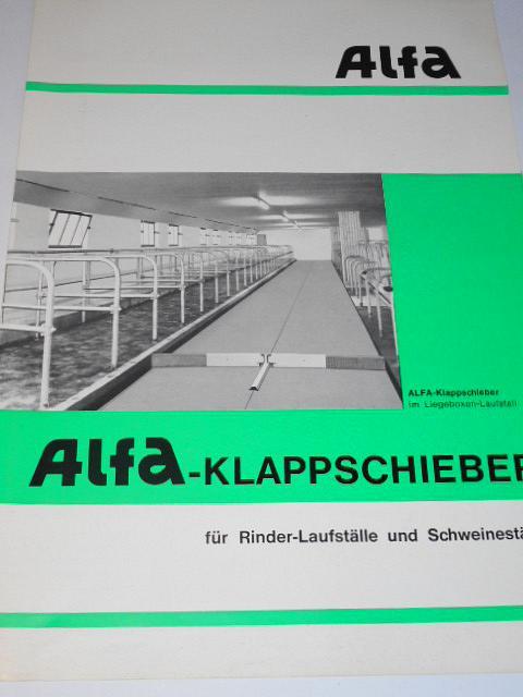 Alfa - Klappschieber für Rinder-Laufställe und Schweineställe - prospekt - 1969