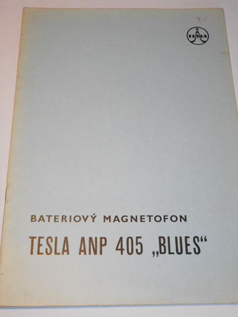 Tesla - bateriový magnetofon Tesla ANP 405 Blues - návod pro opravy a údržbu - 1964