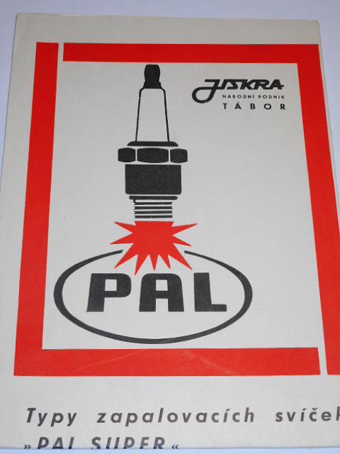 PAL Super - Jiskra Tábor - plakát - osazovací tabulky - 1971 - Jawa, ČZ, Tatra, Škoda...